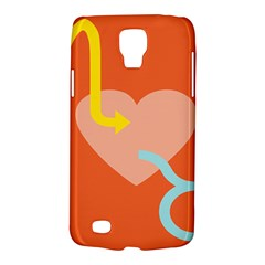 Illustrated Zodiac Love Heart Orange Yellow Blue Galaxy S4 Active