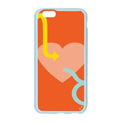 Illustrated Zodiac Love Heart Orange Yellow Blue Apple Seamless iPhone 6/6S Case (Color)