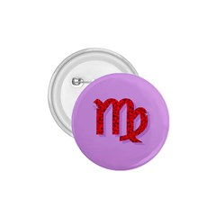 Illustrated Zodiac Purple Red Star Polka 1.75  Buttons