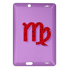 Illustrated Zodiac Purple Red Star Polka Amazon Kindle Fire HD (2013) Hardshell Case