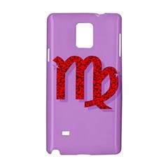 Illustrated Zodiac Purple Red Star Polka Samsung Galaxy Note 4 Hardshell Case