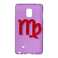 Illustrated Zodiac Purple Red Star Polka Galaxy Note Edge