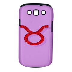 Illustrated Zodiac Purple Red Star Polka Circle Samsung Galaxy S III Classic Hardshell Case (PC+Silicone)