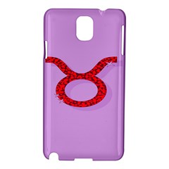 Illustrated Zodiac Purple Red Star Polka Circle Samsung Galaxy Note 3 N9005 Hardshell Case