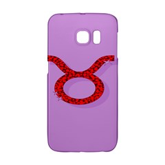 Illustrated Zodiac Purple Red Star Polka Circle Galaxy S6 Edge