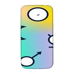 Illustrated Moon Circle Polka Dot Rainbow Samsung Galaxy S4 I9500/I9505  Hardshell Back Case