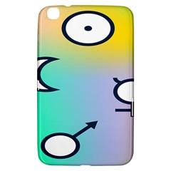 Illustrated Moon Circle Polka Dot Rainbow Samsung Galaxy Tab 3 (8 ) T3100 Hardshell Case