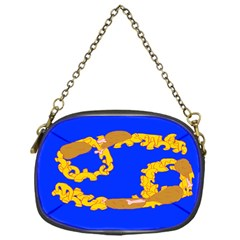 Illustrated 69 Blue Yellow Star Zodiac Chain Purses (One Side)