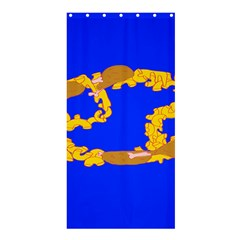 Illustrated 69 Blue Yellow Star Zodiac Shower Curtain 36  x 72  (Stall)