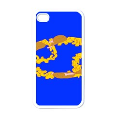 Illustrated 69 Blue Yellow Star Zodiac Apple iPhone 4 Case (White)