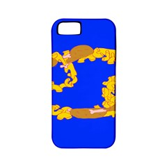 Illustrated 69 Blue Yellow Star Zodiac Apple iPhone 5 Classic Hardshell Case (PC+Silicone)