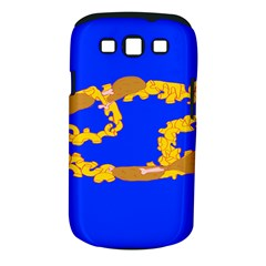 Illustrated 69 Blue Yellow Star Zodiac Samsung Galaxy S III Classic Hardshell Case (PC+Silicone)