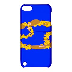 Illustrated 69 Blue Yellow Star Zodiac Apple iPod Touch 5 Hardshell Case with Stand