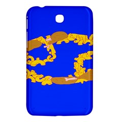 Illustrated 69 Blue Yellow Star Zodiac Samsung Galaxy Tab 3 (7 ) P3200 Hardshell Case