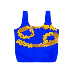 Illustrated 69 Blue Yellow Star Zodiac Full Print Recycle Bags (S)