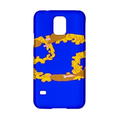 Illustrated 69 Blue Yellow Star Zodiac Samsung Galaxy S5 Hardshell Case