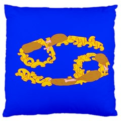 Illustrated 69 Blue Yellow Star Zodiac Standard Flano Cushion Case (One Side)