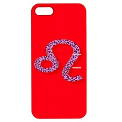 Illustrated Zodiac Red Purple Star Polka Dot Apple iPhone 5 Hardshell Case with Stand