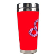 Illustrated Zodiac Red Purple Star Polka Dot Stainless Steel Travel Tumblers