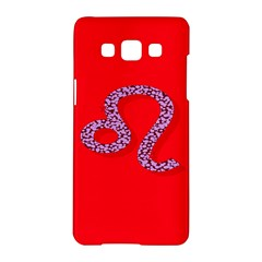 Illustrated Zodiac Red Purple Star Polka Dot Samsung Galaxy A5 Hardshell Case