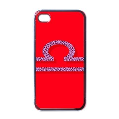 Illustrated Zodiac Red Purple Star Polka Apple iPhone 4 Case (Black)