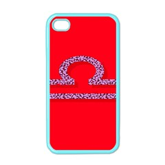 Illustrated Zodiac Red Purple Star Polka Apple iPhone 4 Case (Color)