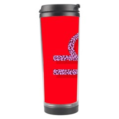 Illustrated Zodiac Red Purple Star Polka Travel Tumbler