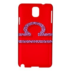 Illustrated Zodiac Red Purple Star Polka Samsung Galaxy Note 3 N9005 Hardshell Case