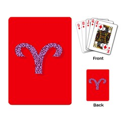 Illustrated Zodiac Red Star Purple Playing Card