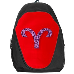 Illustrated Zodiac Red Star Purple Backpack Bag
