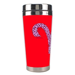 Illustrated Zodiac Red Star Purple Stainless Steel Travel Tumblers