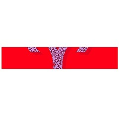 Illustrated Zodiac Red Star Purple Flano Scarf (Large)