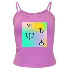 Illustrated Zodiac Star Dark Spaghetti Tank