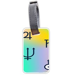 Illustrated Zodiac Star Luggage Tags (One Side)