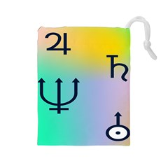 Illustrated Zodiac Star Drawstring Pouches (Large)