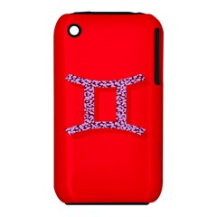 Illustrated Zodiac Red Purple Star Polka Dot Grey iPhone 3S/3GS
