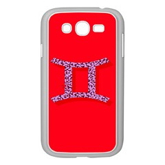 Illustrated Zodiac Red Purple Star Polka Dot Grey Samsung Galaxy Grand DUOS I9082 Case (White)