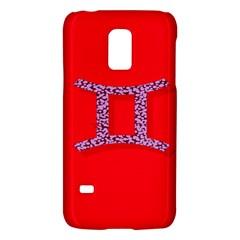 Illustrated Zodiac Red Purple Star Polka Dot Grey Galaxy S5 Mini