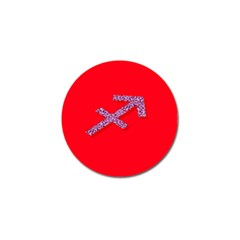 Illustrated Zodiac Star Red Purple Golf Ball Marker (10 pack)