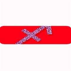 Illustrated Zodiac Star Red Purple Large Bar Mats