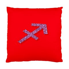 Illustrated Zodiac Star Red Purple Standard Cushion Case (Two Sides)