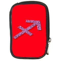 Illustrated Zodiac Star Red Purple Compact Camera Cases