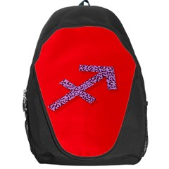 Illustrated Zodiac Star Red Purple Backpack Bag