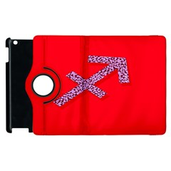 Illustrated Zodiac Star Red Purple Apple iPad 2 Flip 360 Case