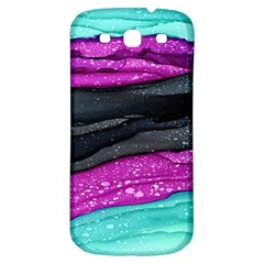 Green Pink Purple Black Stone Samsung Galaxy S3 S III Classic Hardshell Back Case