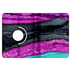 Green Pink Purple Black Stone Kindle Fire HDX Flip 360 Case