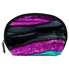 Green Pink Purple Black Stone Accessory Pouches (Large)