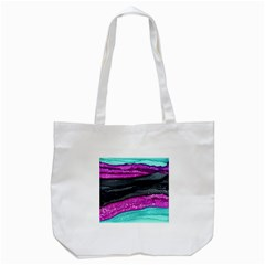 Green Pink Purple Black Stone Tote Bag (White)