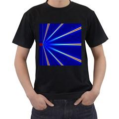 Light Neon Blue Men s T-Shirt (Black)