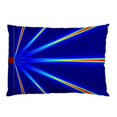 Light Neon Blue Pillow Case (Two Sides)